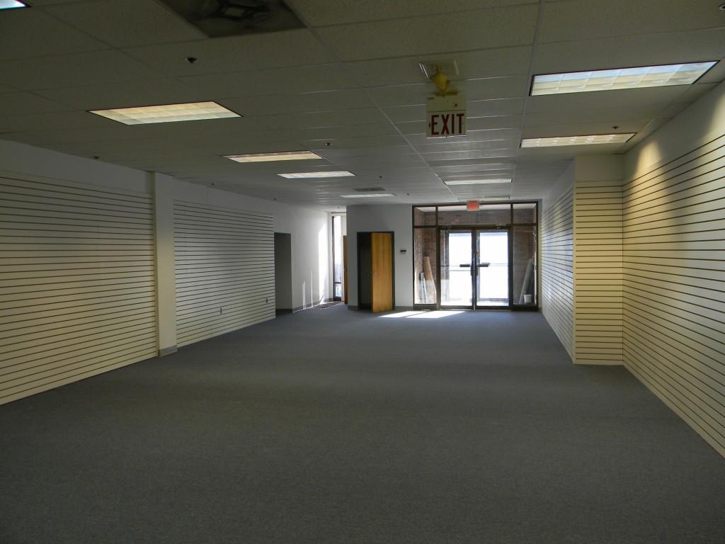Retail area and front door.